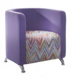 Tub Chair Chrome Legs