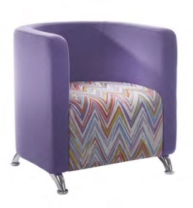 Cee Tub Chair Chrome Legs