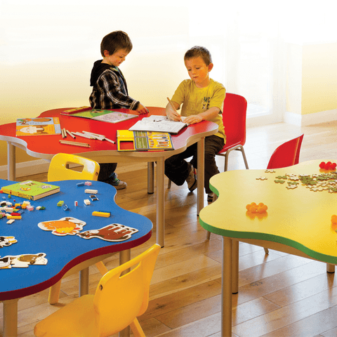 Early-Years-Daisy-Shaped-Tables-In-Classroom-Environment