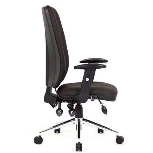 office chair side. Wonderful Office ChiroHighBackOfficeChairSideViewBrown  To Office Chair Side