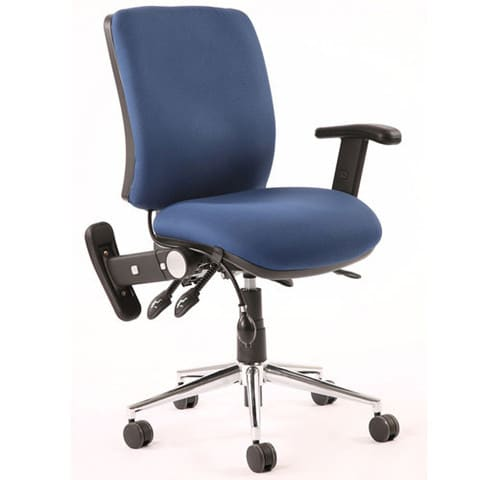 Chiro-Mid-Back-Office-Chair-With-Folding-Arms-Navy