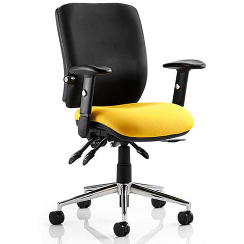 Chiro-Mid-Back-Office-Chair-With-Arms-Chrome-Base