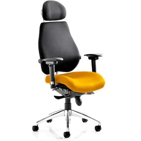 Chiro Plus Ultimate Upholstered fice Chair With Headrest