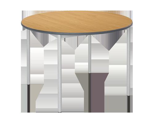 Circular RT32 Tubular Leg Classroom Table
