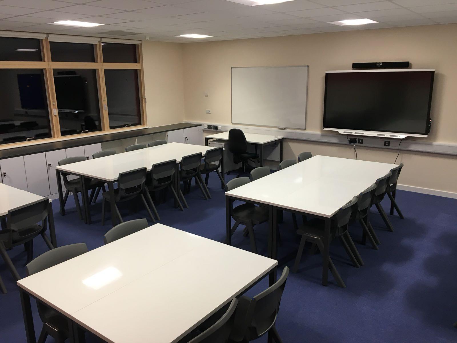 Classroom Refurb Dry-wipe table tops