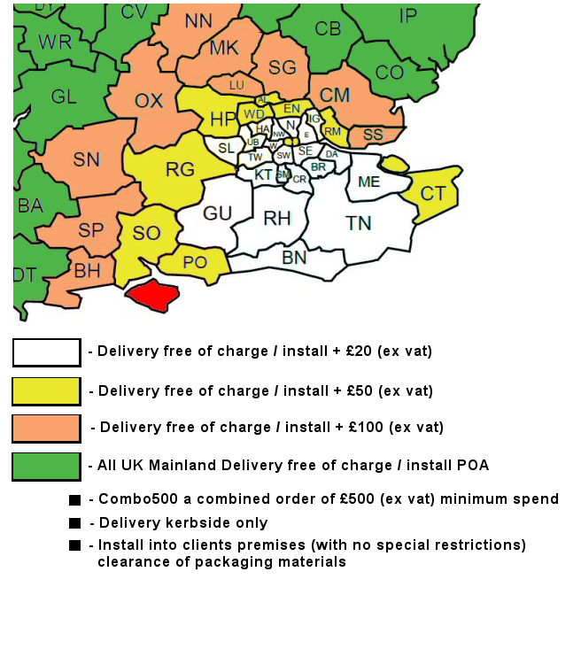 Combo500 Deal Delivery Areas