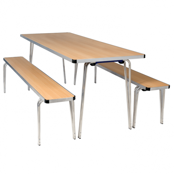 Contour Folding Bench and Table Set