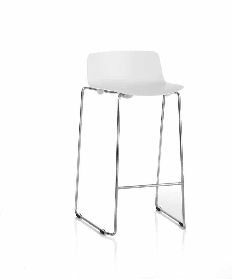 Coso-Chrome-Frame-Low-Back-Bar-Stool-With-Foot-Bar-White