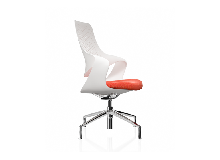 Coza White Shell Red Seat