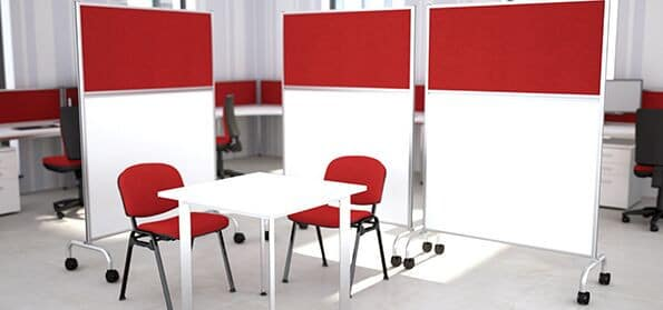 Mobile-Floor-Standing-Office-Screen-On-Wheels