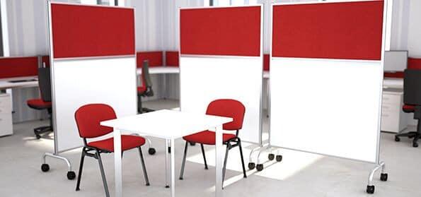 Mobile-Floor-Standing-Office-Screen-On-Wheels