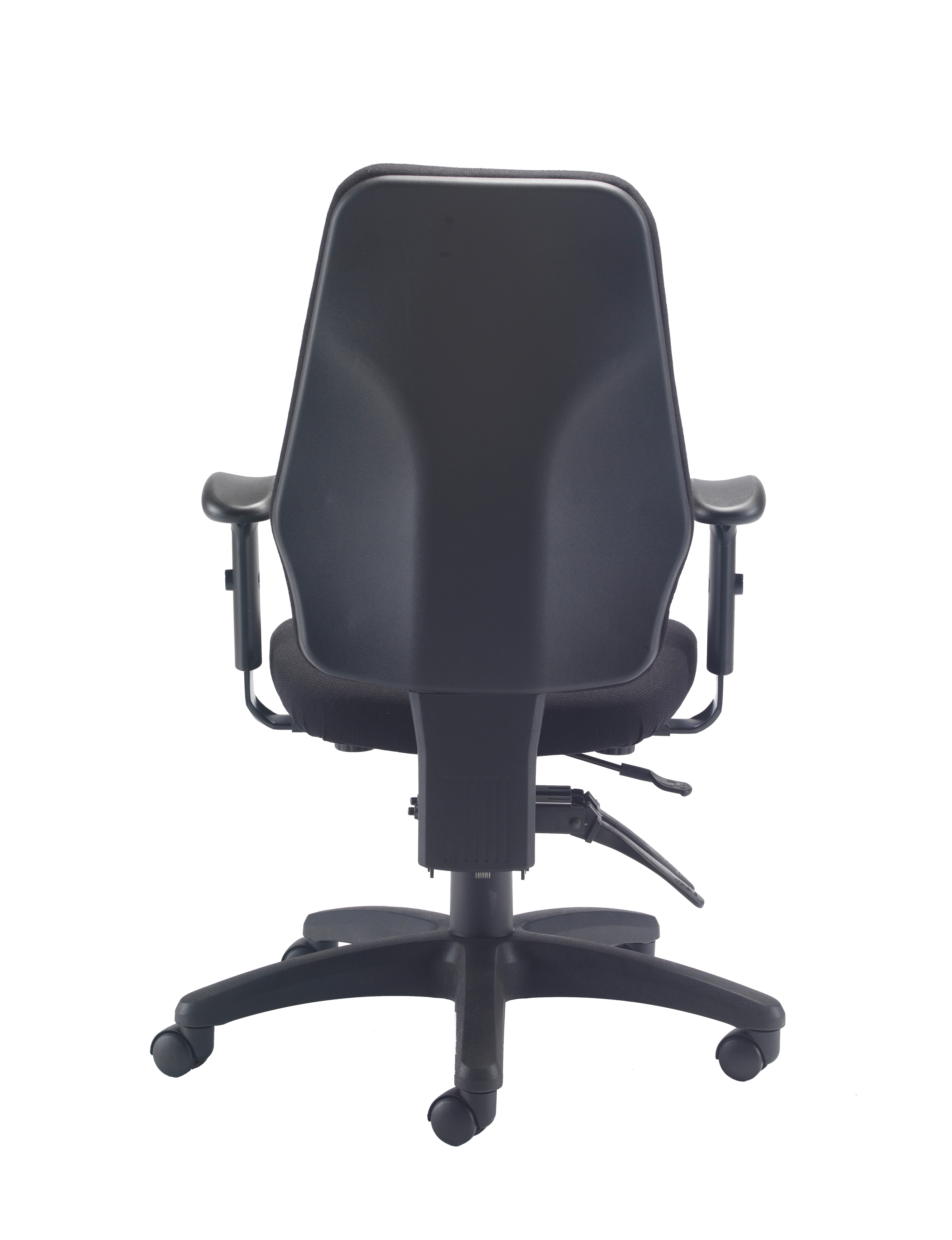Delux Task Chair Charcoal Back View