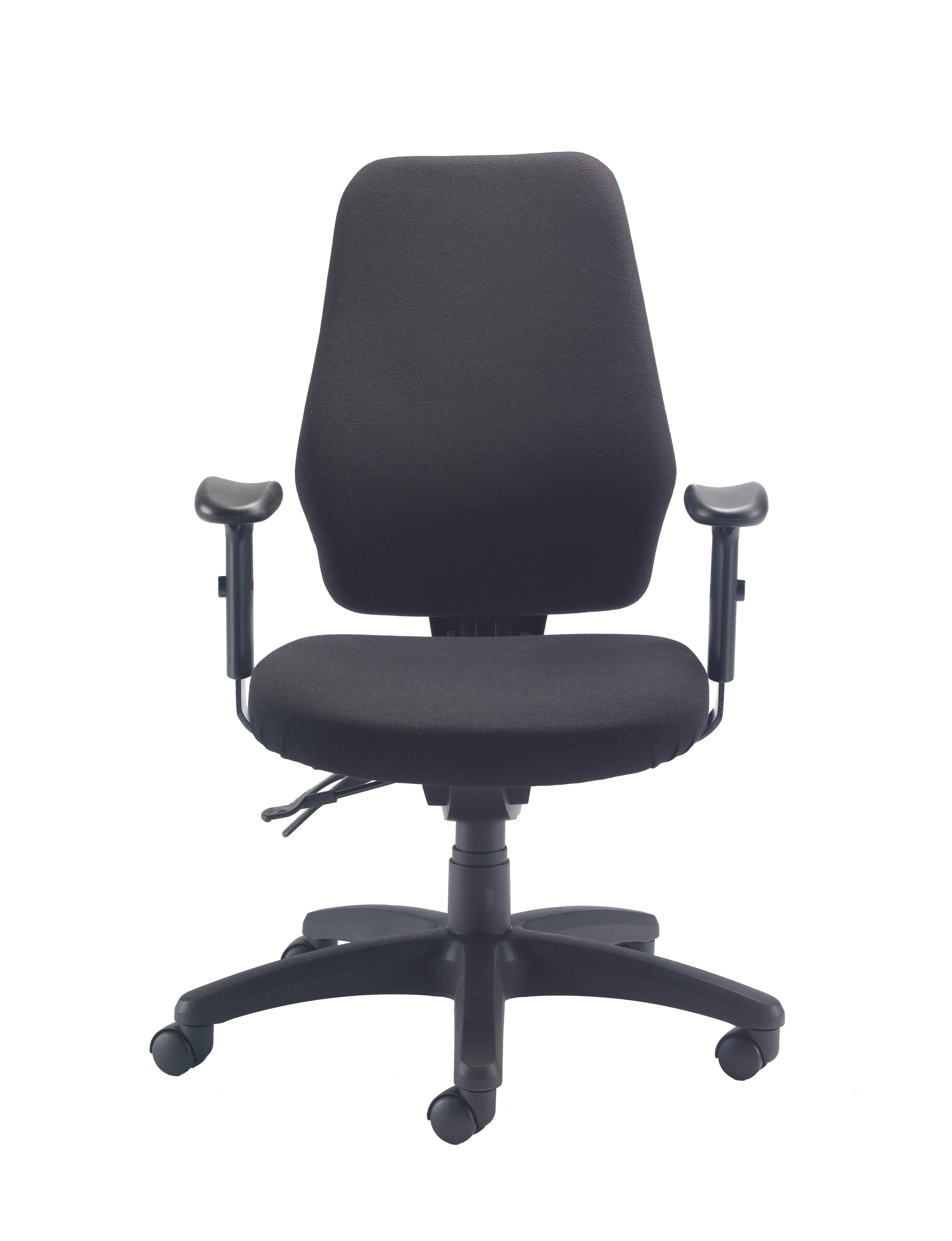 Delux Task Chair Charcoal Front View