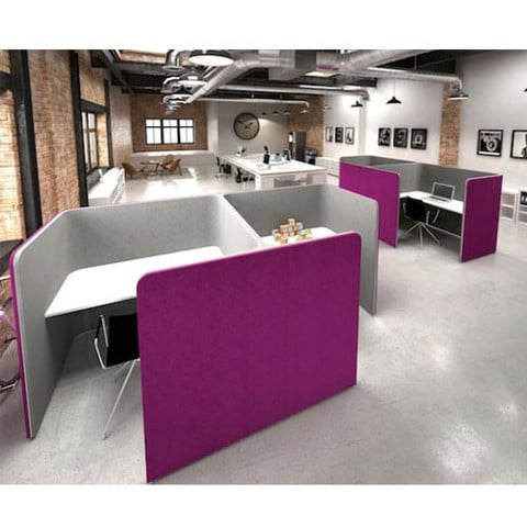 Den-Cube-Acoustic-Office-Work-Pod-Purple-and-Grey-In-Office-Environment