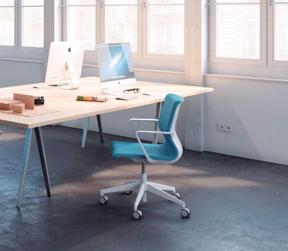 Drumback task chair in situ tele grey frame and base