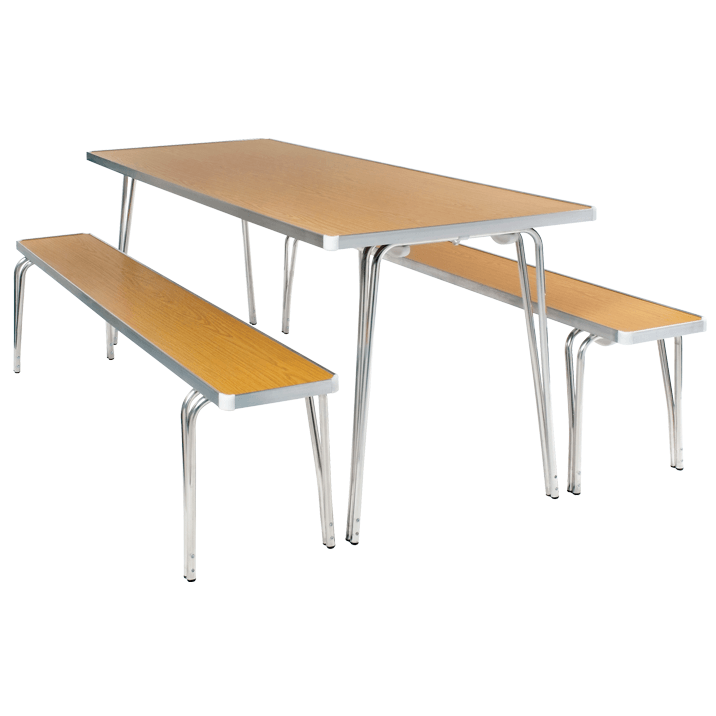 Economy-Folding-Table-And-Bench-Set