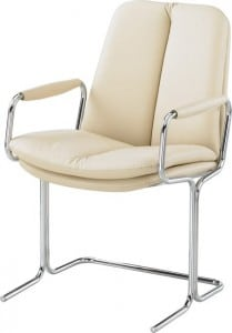 EleIvory-Leather-Mid-Back-Conference-Chair-With-Capped-Arms
