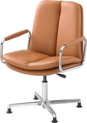 Ele-Tan-Leather-Meeting-Chair-Swivel-Base