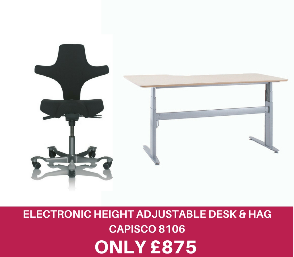 Electronic Height Adjustable Desk & 8106 ICON