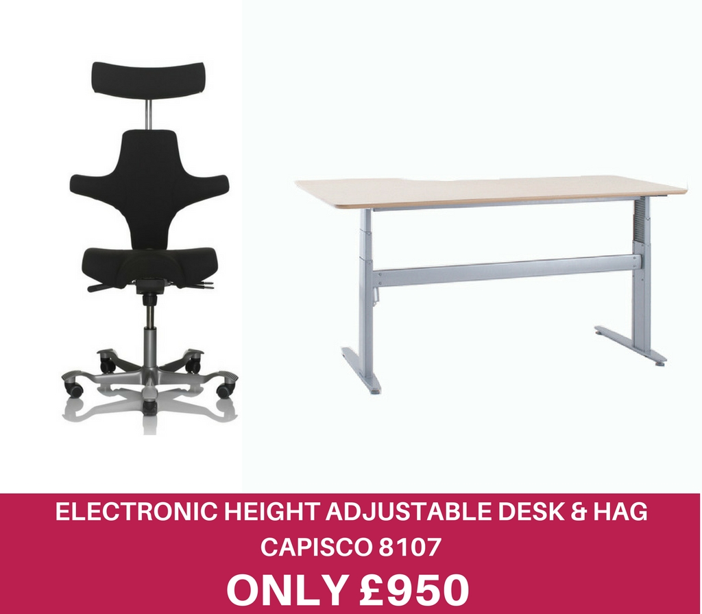 Electronic Height Adjustable Desk & 8107 ICON