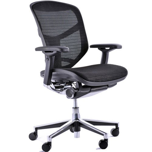 Enjoy Task Chair Mesh Back With Lumbar Support Black