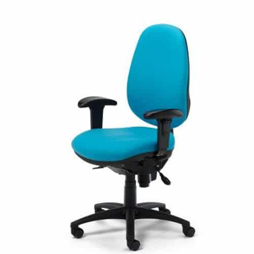 Ergonomic Task 24 Office Chair With Arms Black Base