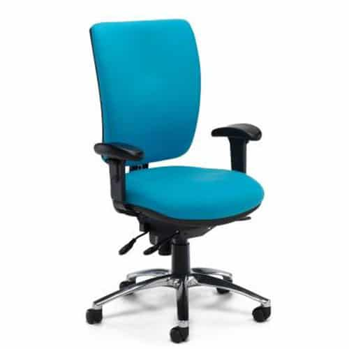 Ergonomic-Task-24-Office-Chair-Blue-With-Arms