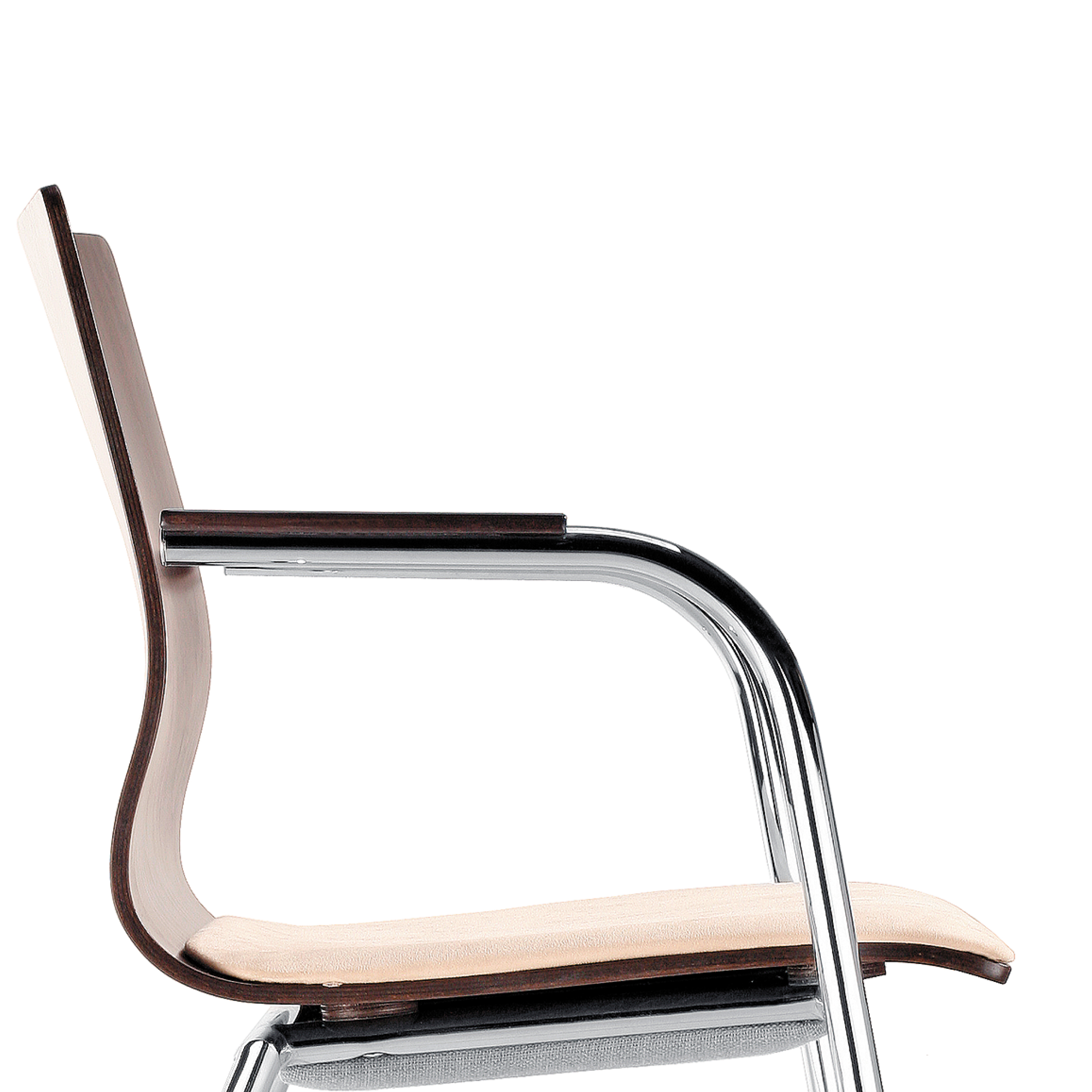 Espacio Chairs with Wooden Arm Pads
