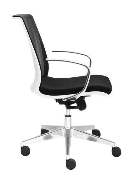 Eva Chair Fixed Arms Chrome Base