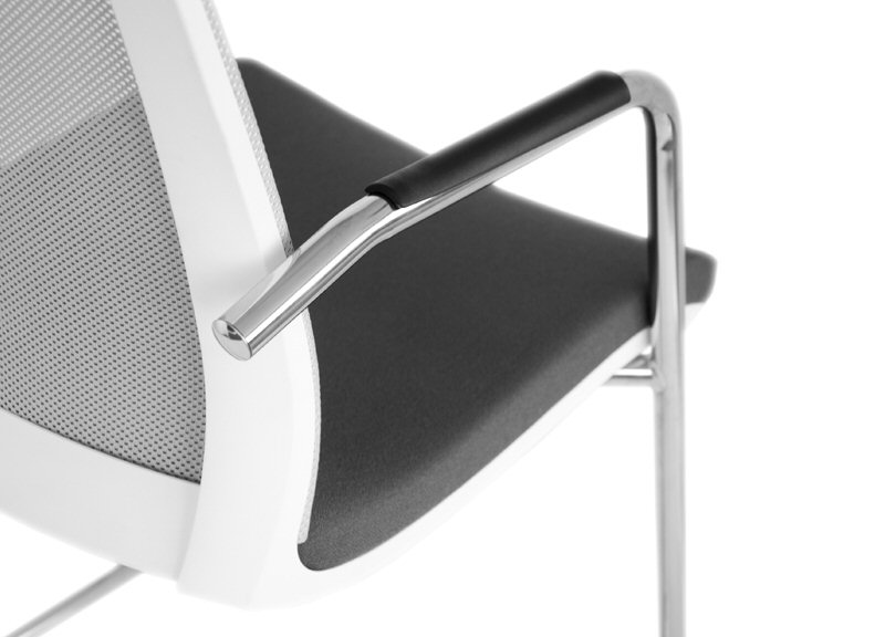 Eva Conference Chair Cantilever Frame Arms Close Up