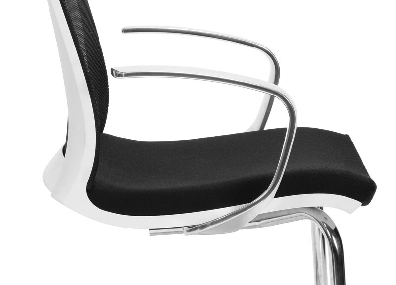 Eva Conference Chair with Fixed Aluminium Arms Close Up