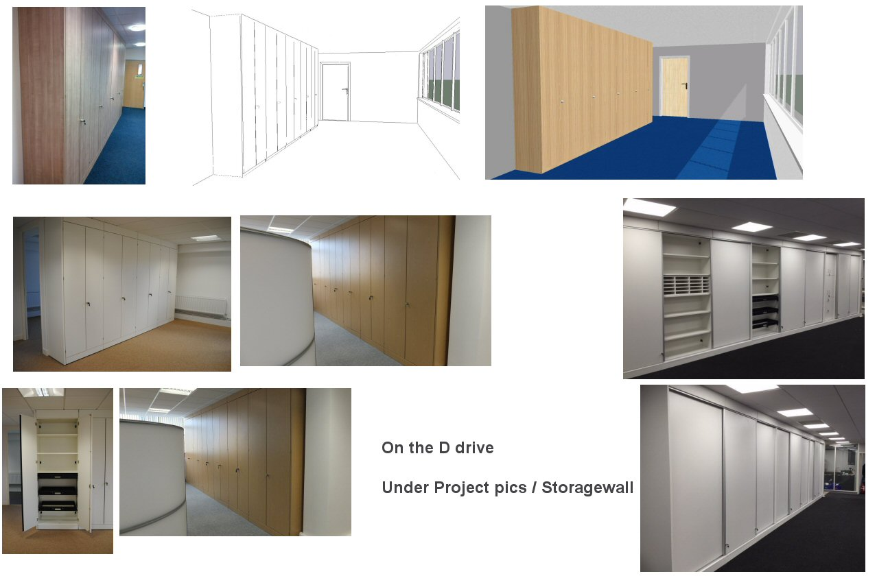 Storage Wall Space Design to Completion