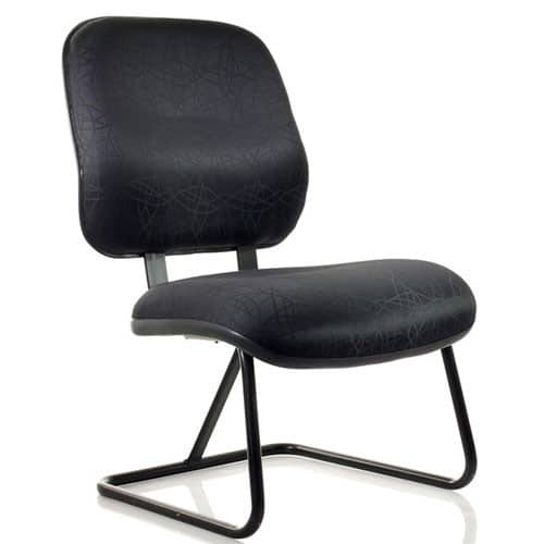 Excelsior-Black-Cantilever-Frame-Bariatric-Chair-With-Support-Beam