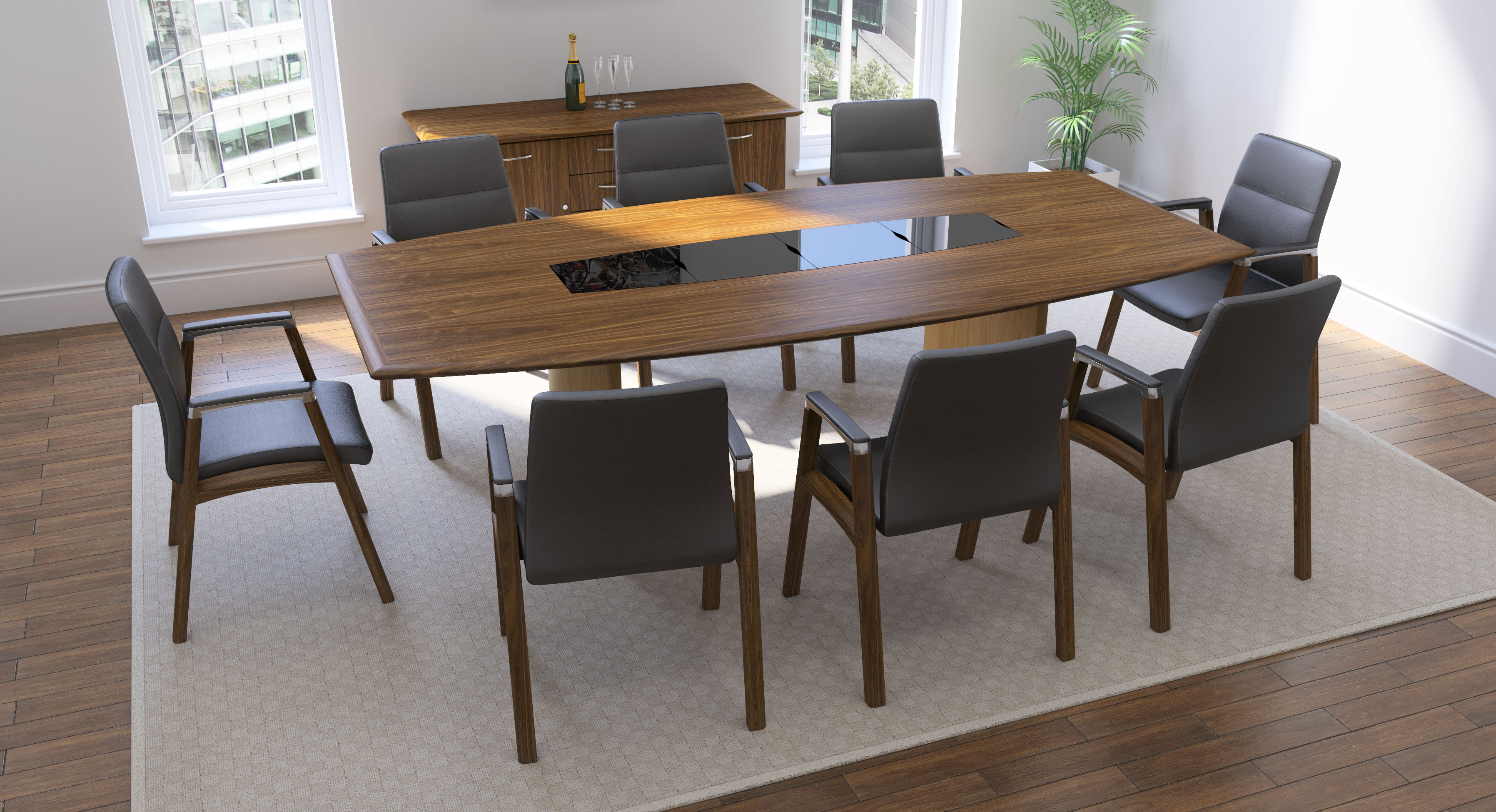 Fulcrum F1 Meeting Chairs Black