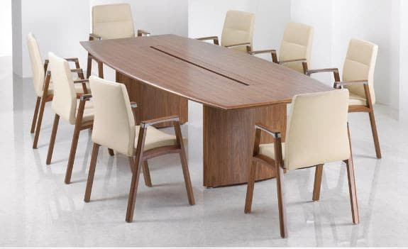 Fulcrum-F1-Conference-Chairs-Timber-Frame-Armcaps-In-Situ