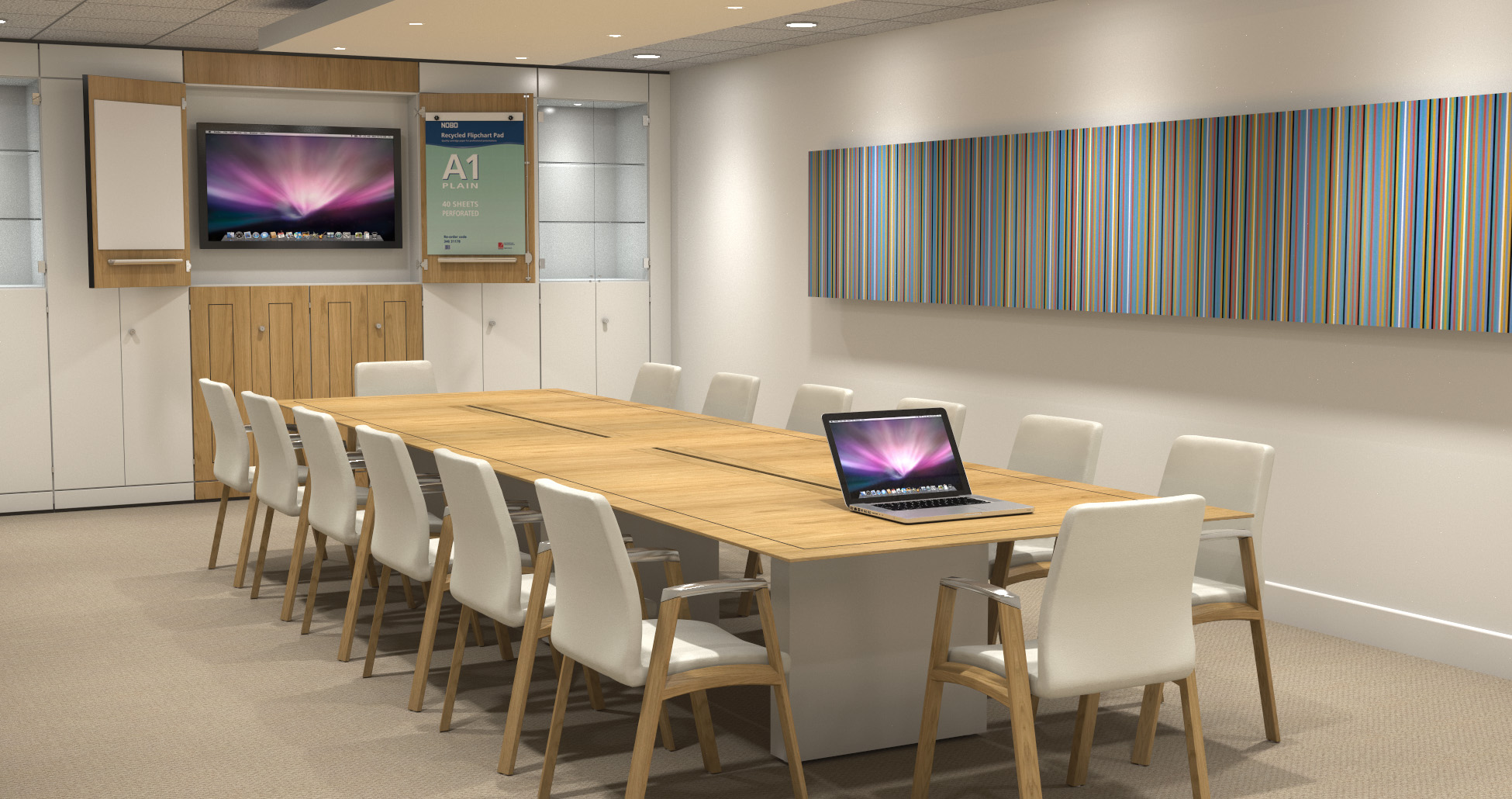 Fulcrum Boardroom Table and F2 Fulcrum Chairs
