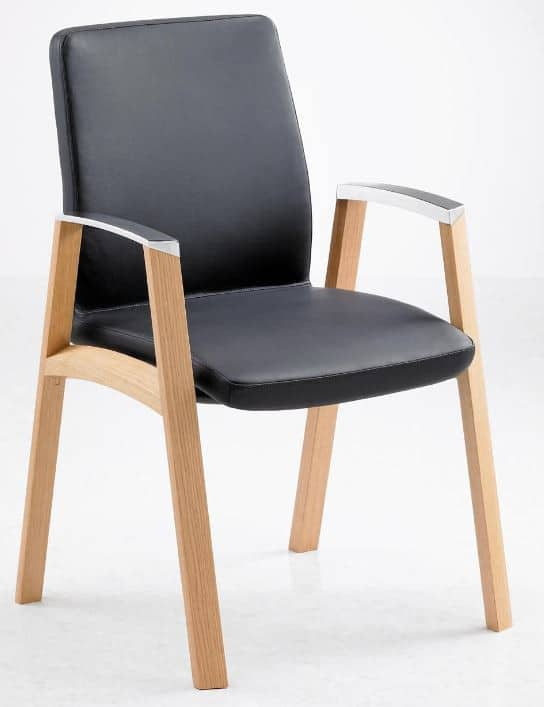 Fulcrum-F2-Timber-Frame-Conference-Chair-Aluminium-Arm-Caps