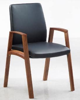 Fulcrum-F2-High-Gloss-Timber-Frame-Leather-Conference-Chair