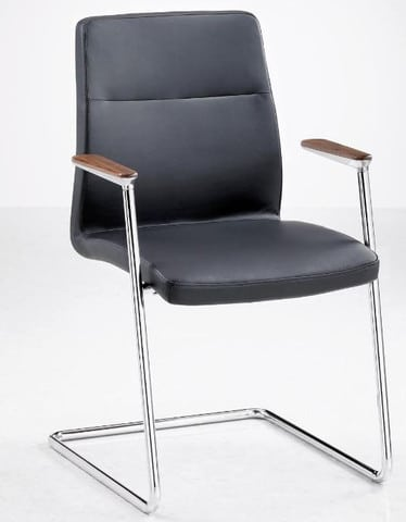 Fulcrum-F3-Steel-Cantilever-Frame-Chrome-Finish-Meeting-Chair-Timber-Arm-Caps