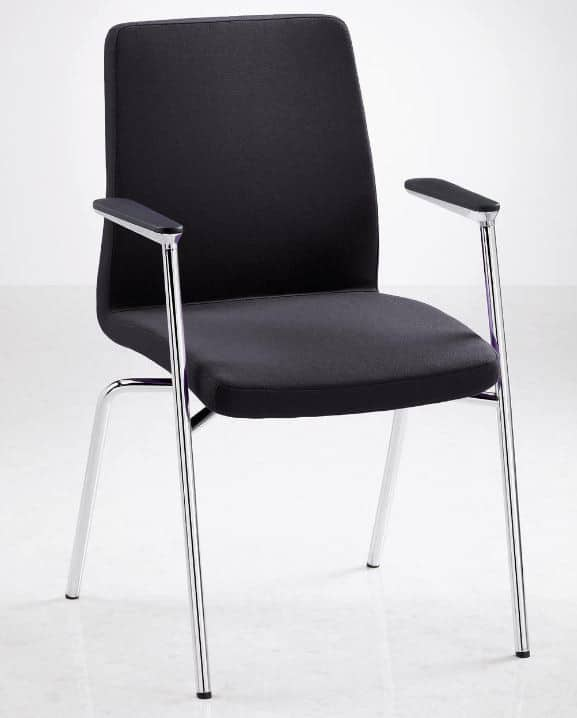 Fulcrum-F4-Black-Meeting-Chair-Chrome-Frame-Leather-Capped-Arms