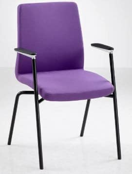 Fulcrum-F4-Black-Frame-Meeting-Chair-With-Arms