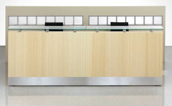 Fulcrum-Natural-Bamboo-Veneer-Reception-Desk-with-Kick-Plate