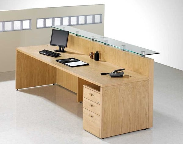 Fulcrum-Light-Oak-Veneer-Reception-Desk-with-Pedestal-Drawers