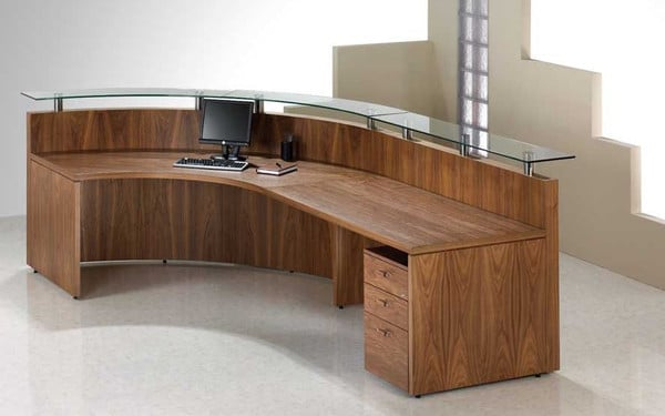 Fulcrum-Natural-Walnut-Veneer-Reception-Desk-Glass-Top