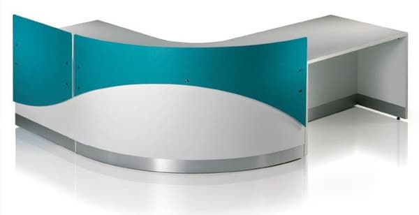 Fusion-Modern-Reception-Desk-White-Laminate-Inlay-with-Turquoise-Privacy-Screen