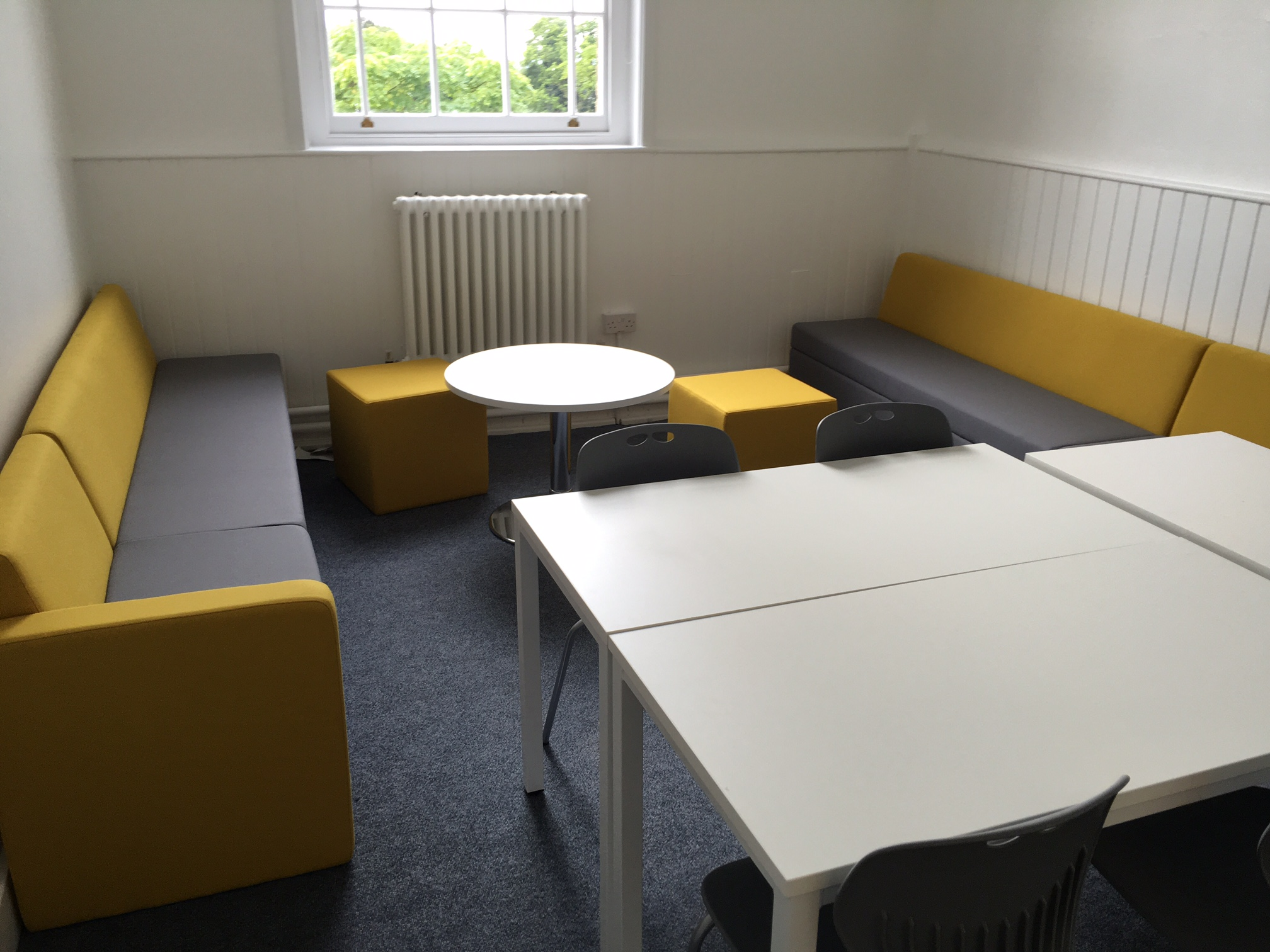 Far Modular Soft Seating in Yellow and Grey