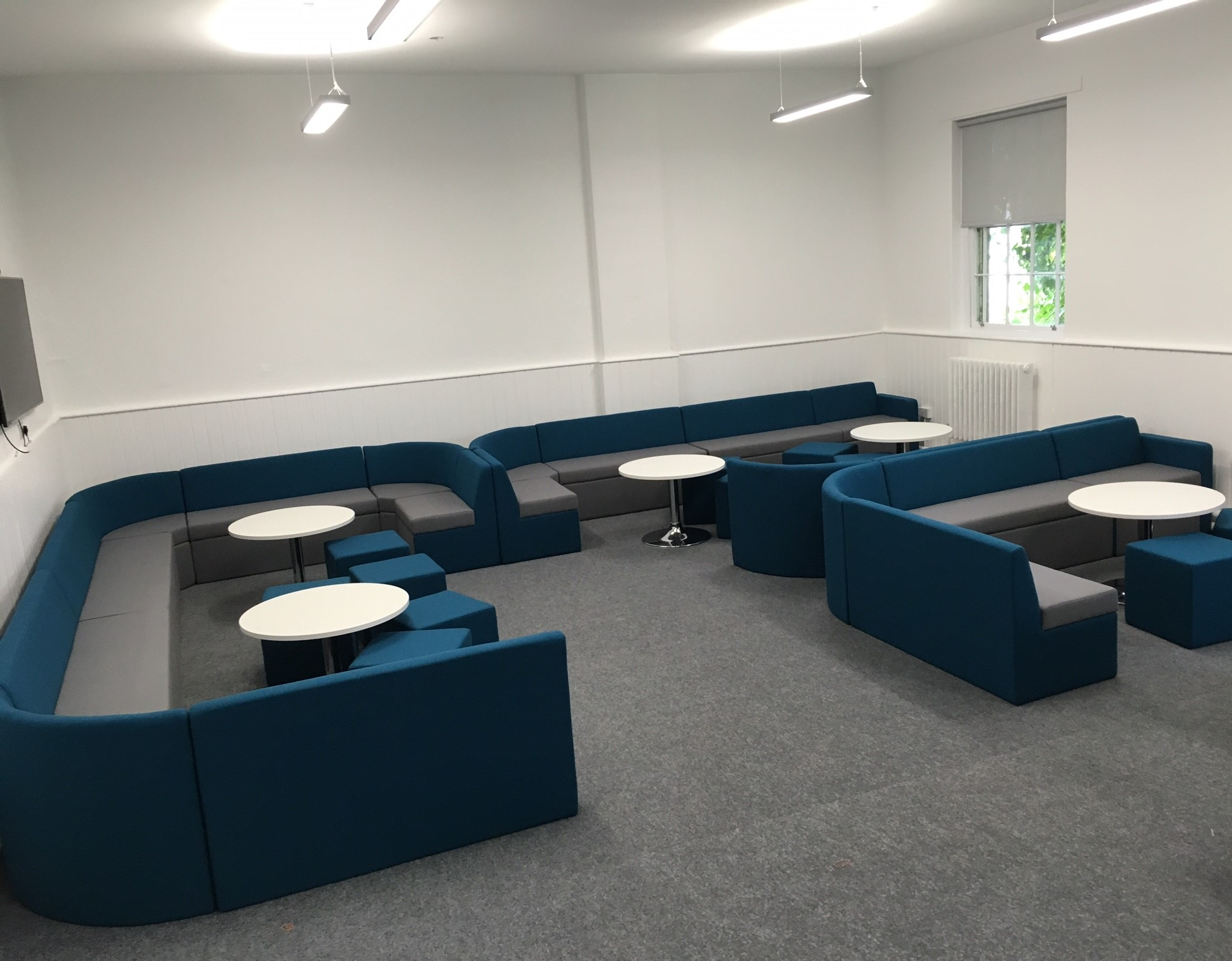 Far Soft Modular Seating Blue and Grey