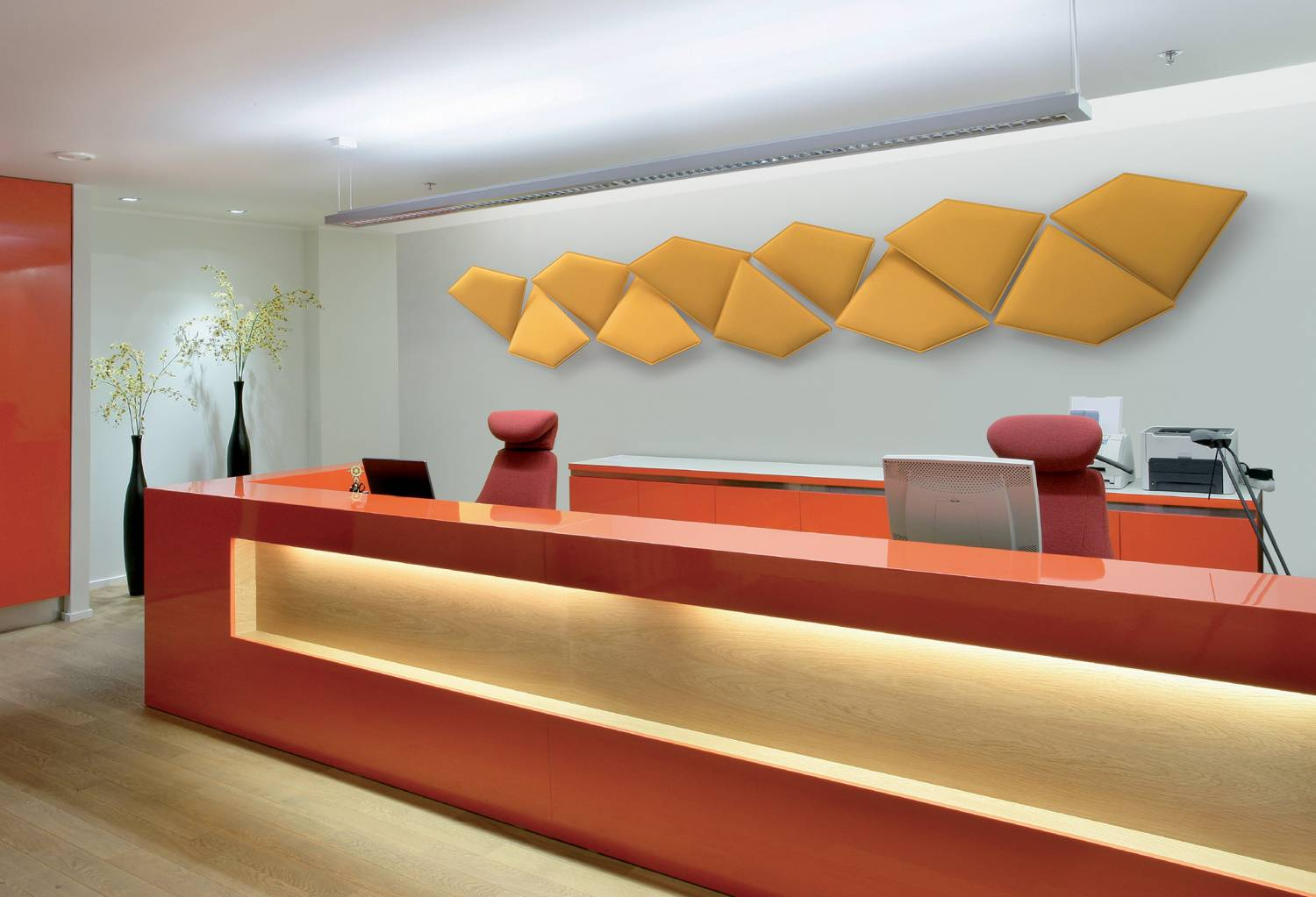 Flap-Acoustic-Sound-Absorbing-Tiles-in-Reception-Area