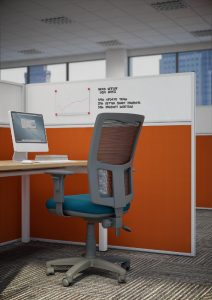 Floor Standing Magnetic Office Screen