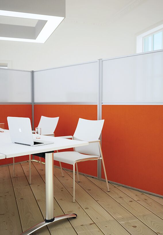 Floor Standing Screen Orange